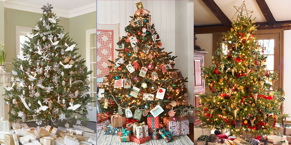 30 decorated christmas tree ideas pictures of christmas tree rh goodhousekeeping com decorating for christmas early decorating for christmas on a budget