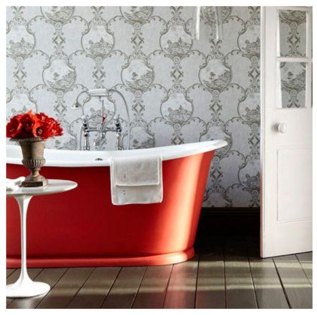 Room, Property, Product, Interior design, Orange, Tile, Furniture, Wall, Floor, Table,