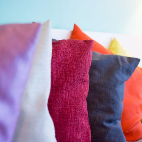 decorative comfortable pillow natural fabric