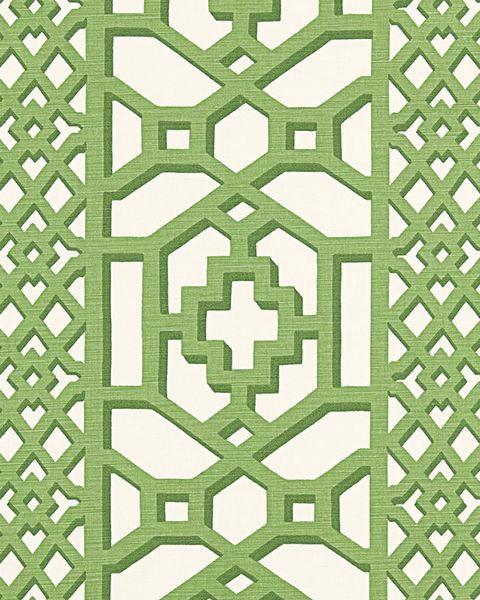schumacher zanzibar trellis matte jade fabric