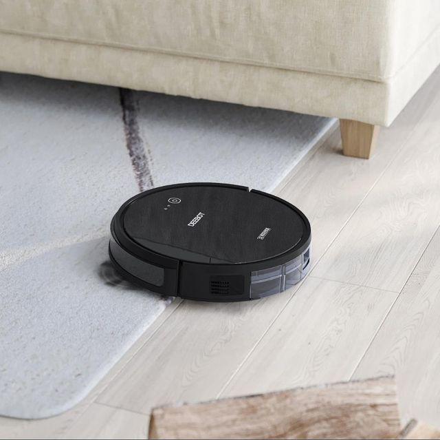 ecovacs deebot 661 robot vacuum on living room floor