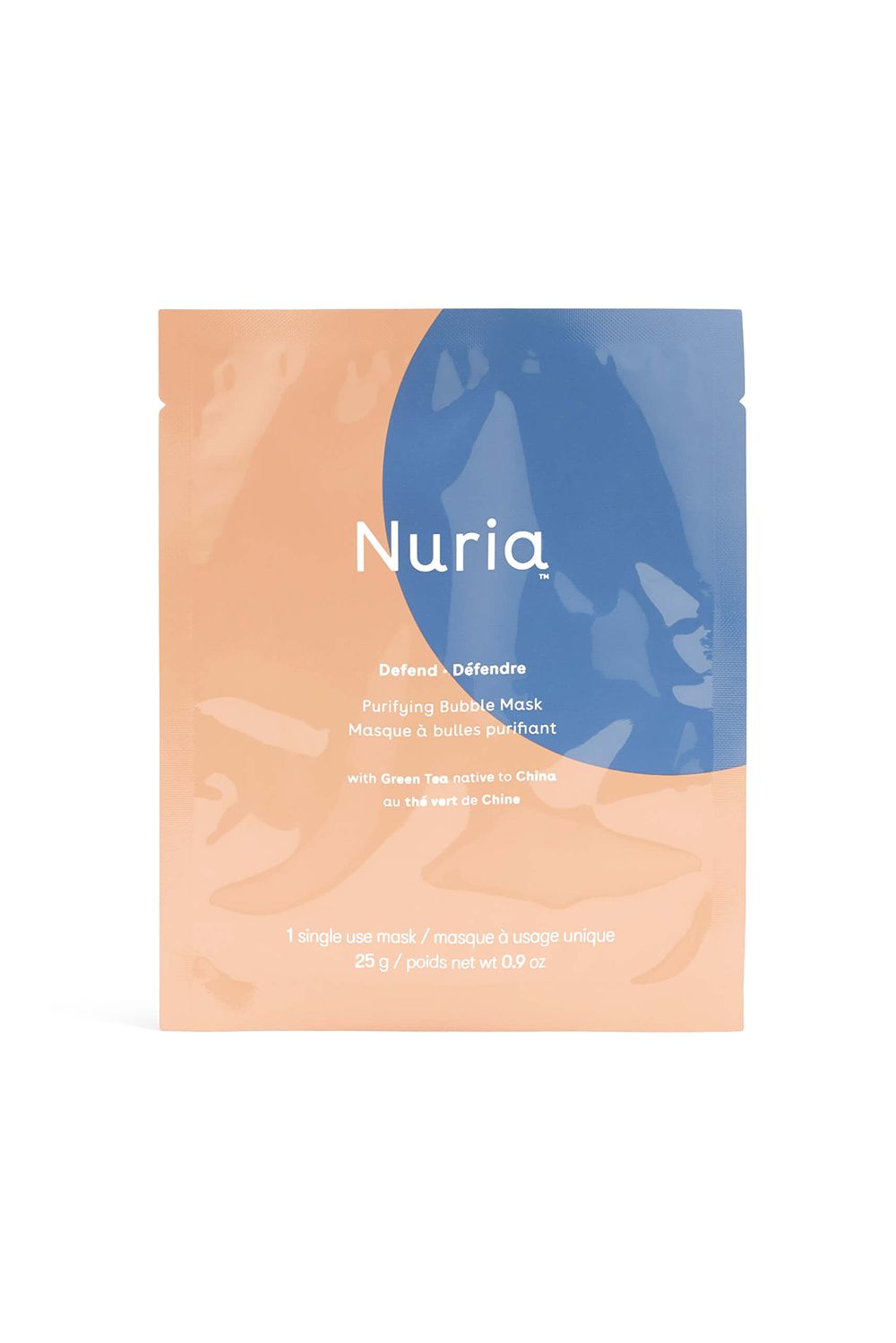 Nuria Defend Purifying Bubble Mask Nuria Defend Purifying Bubble Mask, $10 SHOP IT Half the fun in sheet masks are the experience, ya know? Bubbling sheet masks are more fun—especially when they lift dead skin cells and trapped oil that's been living in your skin for too long.