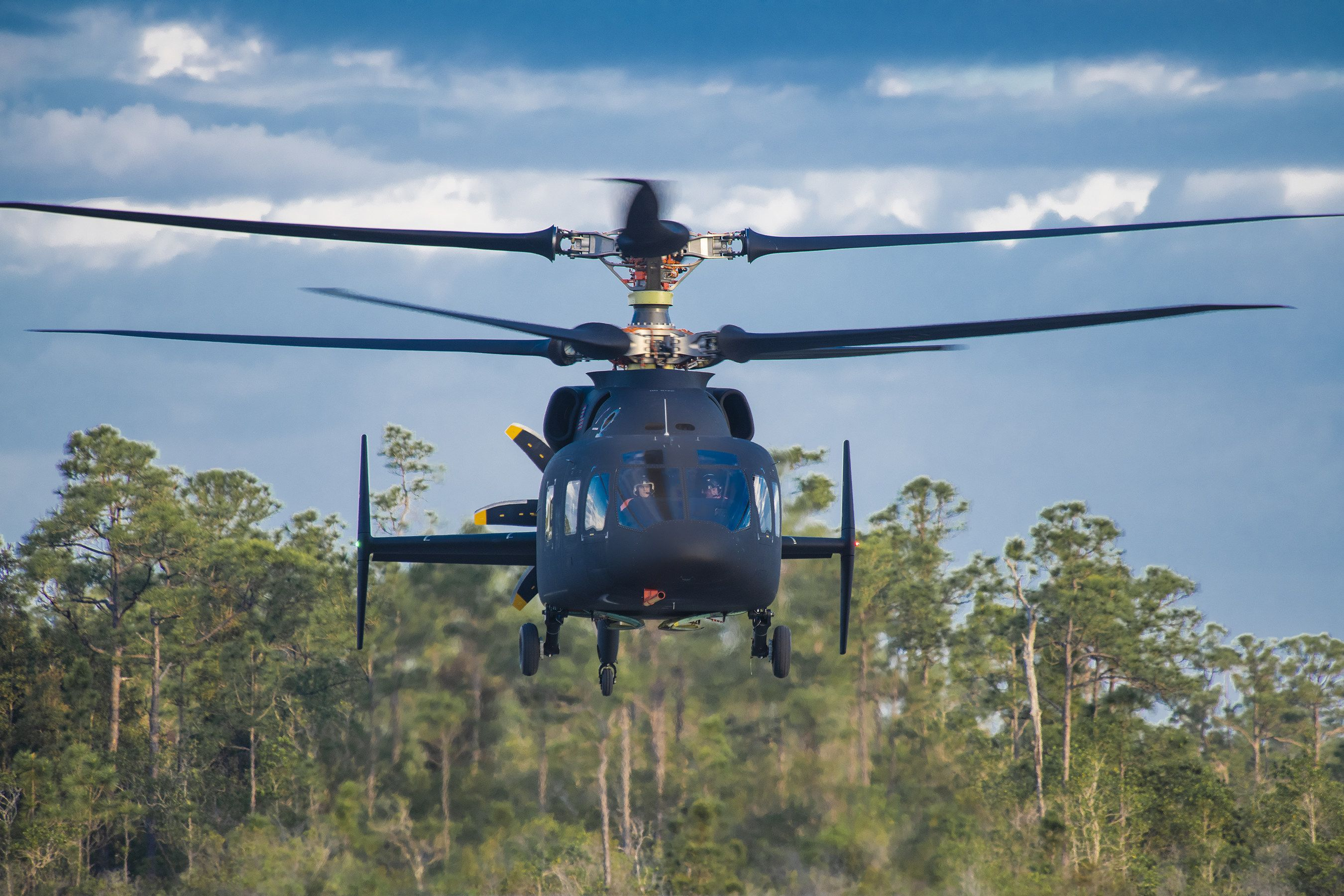 First Flight of the SB-1 Defiant, a Potential Blackhawk Helicopter Replacement