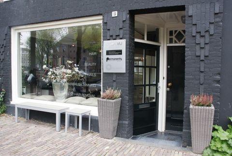 Flowerpot, Door, Glass, Fixture, Home door, Houseplant, Annual plant, Outdoor table, Screen door,