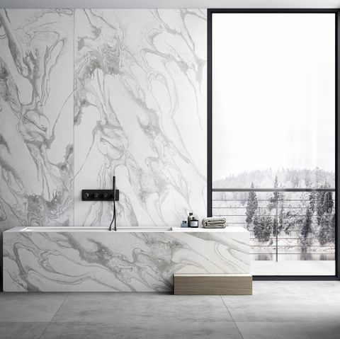 'liquid' surface for walls, floors or worktops by dekton