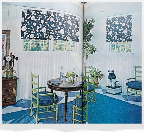 blue and green room