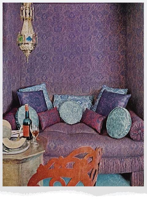 purple sitting area