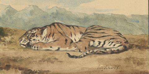 Royal Tiger by Eugene Delacroix, 1830