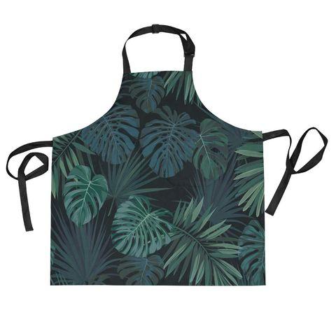 Delantal con diseño de hojas de palmera