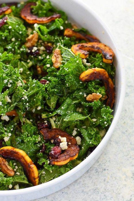 delicata squash autumn salad