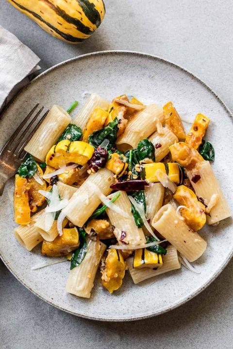 delicata squash rigatoni pasta recipe