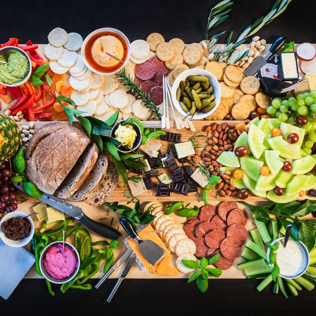 delicious mediterranean appetizer from directly above