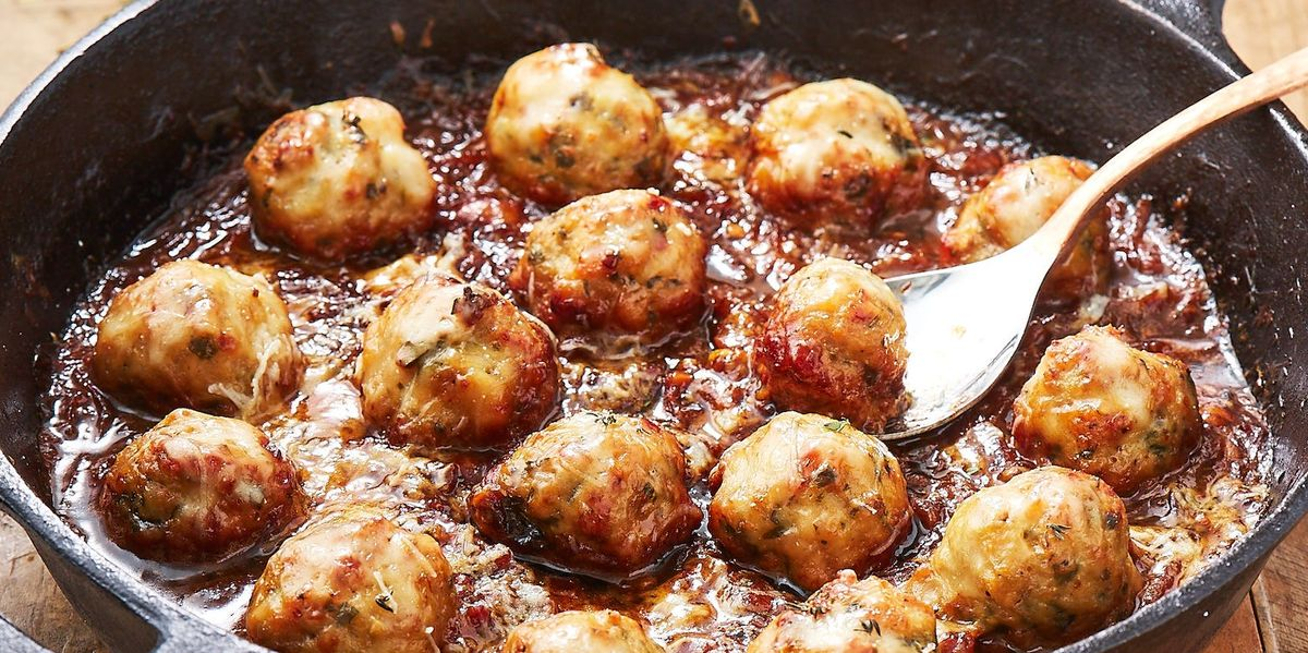 Best French Onion Chicken Meatballs Recipe How To Make French Onion Chicken Meatballs