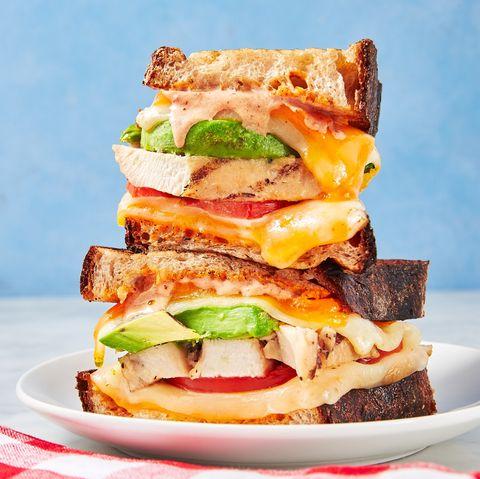Dish, Food, Cuisine, Ingredient, Breakfast sandwich, Bacon sandwich, Sandwich, Fast food, Produce, Finger food,
