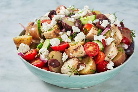 Dish, Food, Cuisine, Greek salad, Garden salad, Salad, Panzanella, Ingredient, Israeli salad, Fattoush,