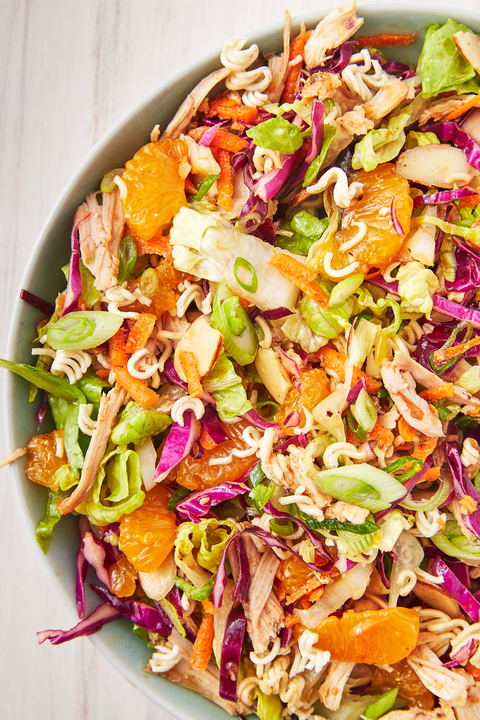 asian chicken mandarin salad   delishcom