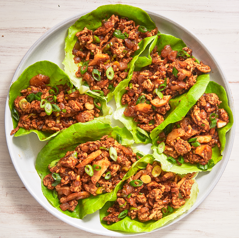 lettuce chicken wraps for a healthy meal