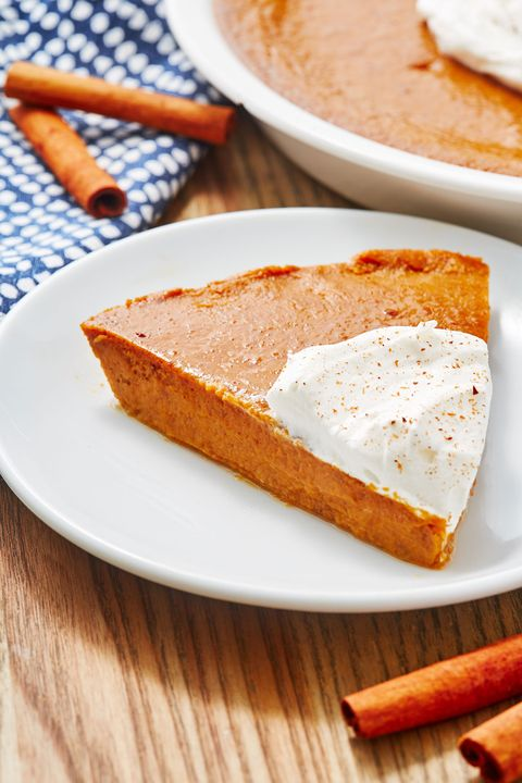 crustless pumpkin pie   delishcom