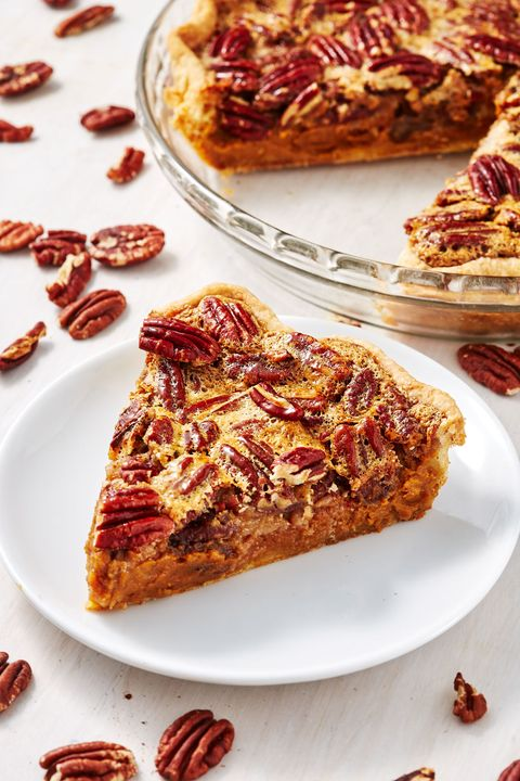 Pumpkin Pecan Pie - Delish.com