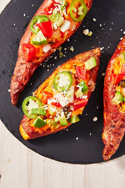 Twice Baked Sweet Potatoes - Delish.com