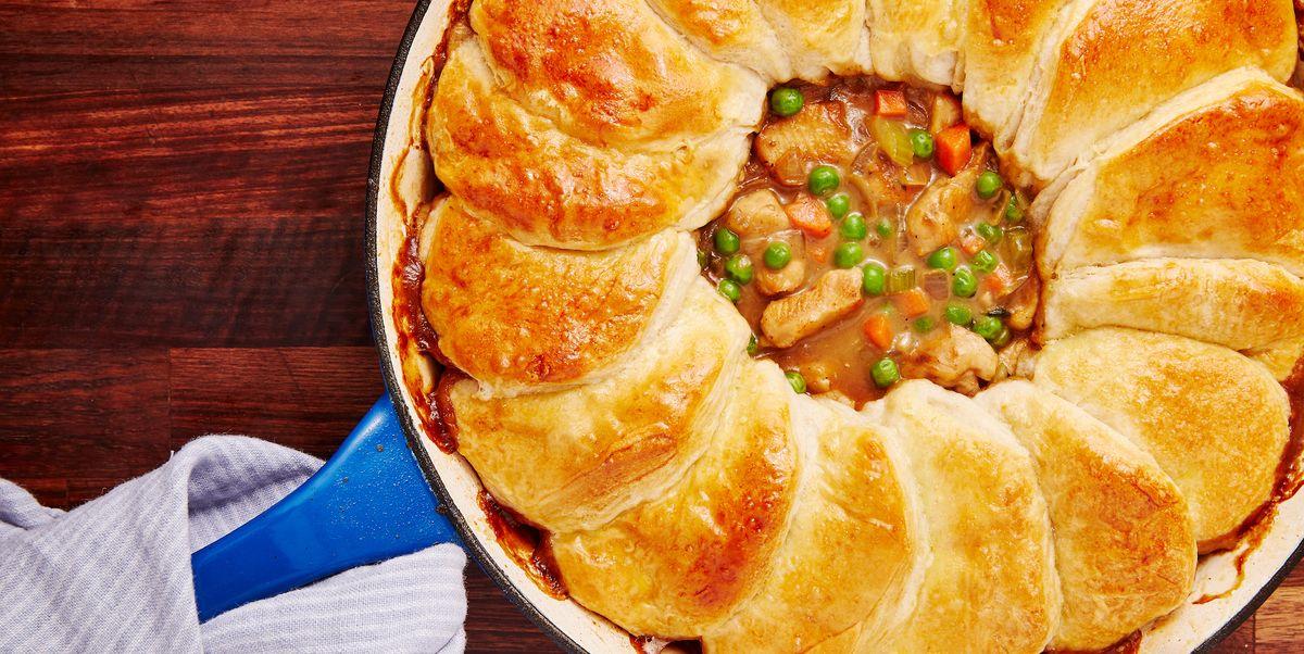 Best Skillet Chicken Pot Pie Recipe - How to Make Skillet ...