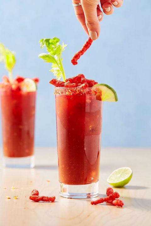 Flamin' Hot Bloody Marys - Delish.com