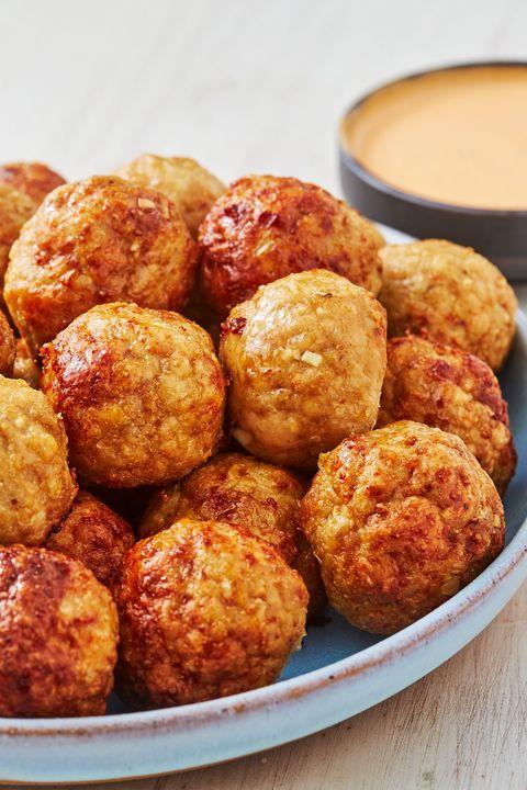 chicken meatballs   delishcom