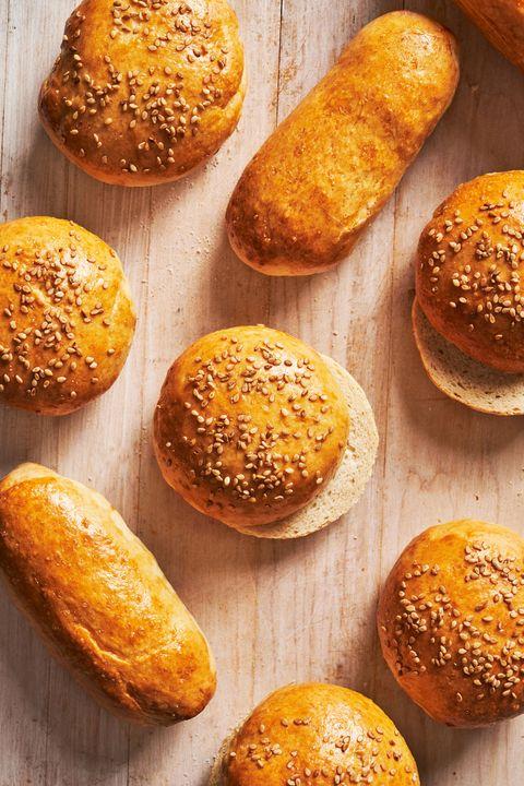 hot dog and hamburger buns