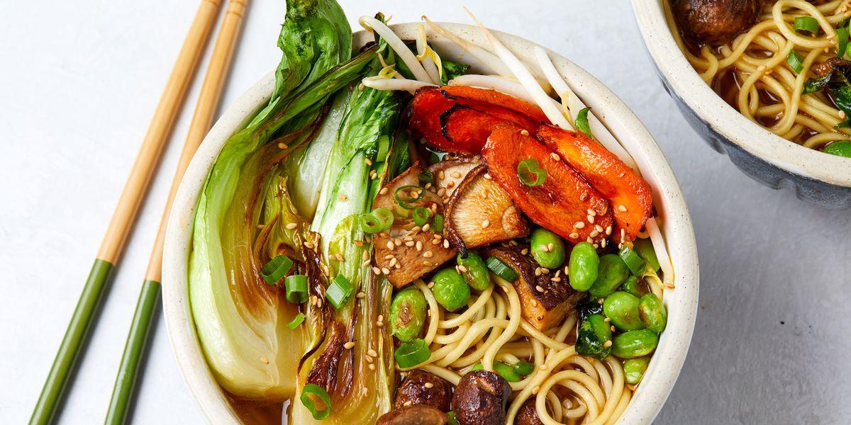 Vegan Ramen with Roasted Red Miso Veggies