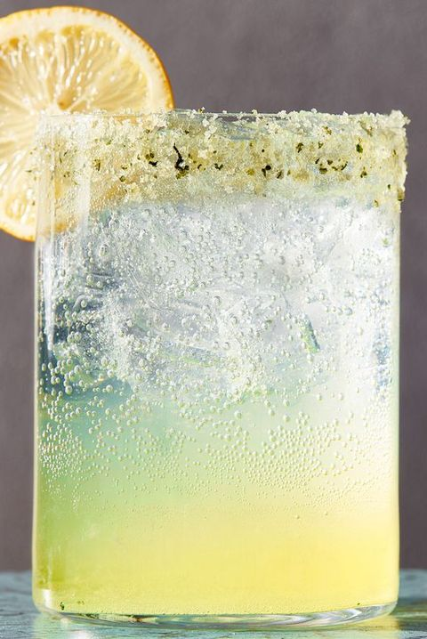 sparkling basil lemonade