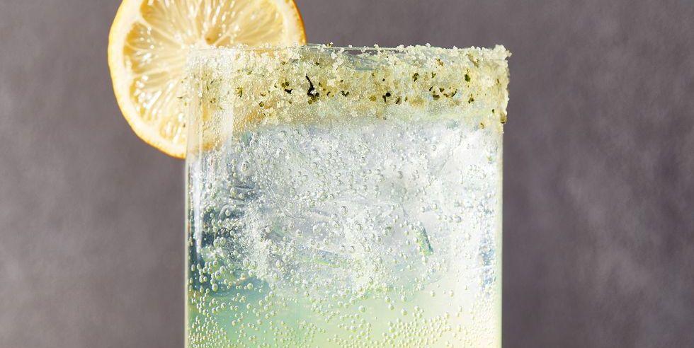 Spiked Sparkling Basil Lemonade