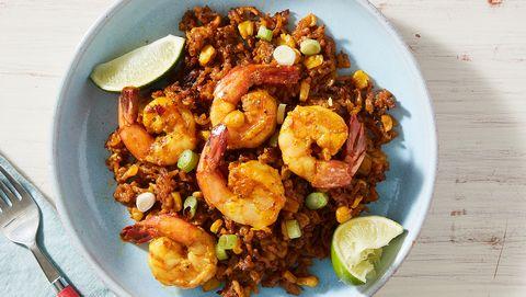 sweet corn shrimp  rice