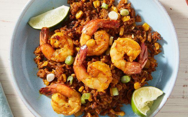 sweet corn shrimp  rice  delishcom
