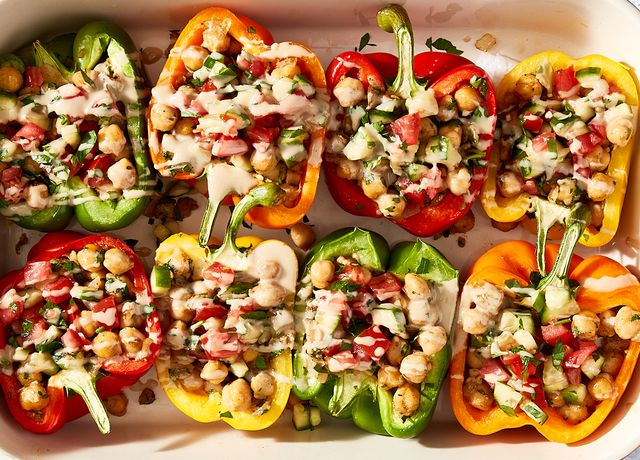 falafel chickpea stuffed peppers