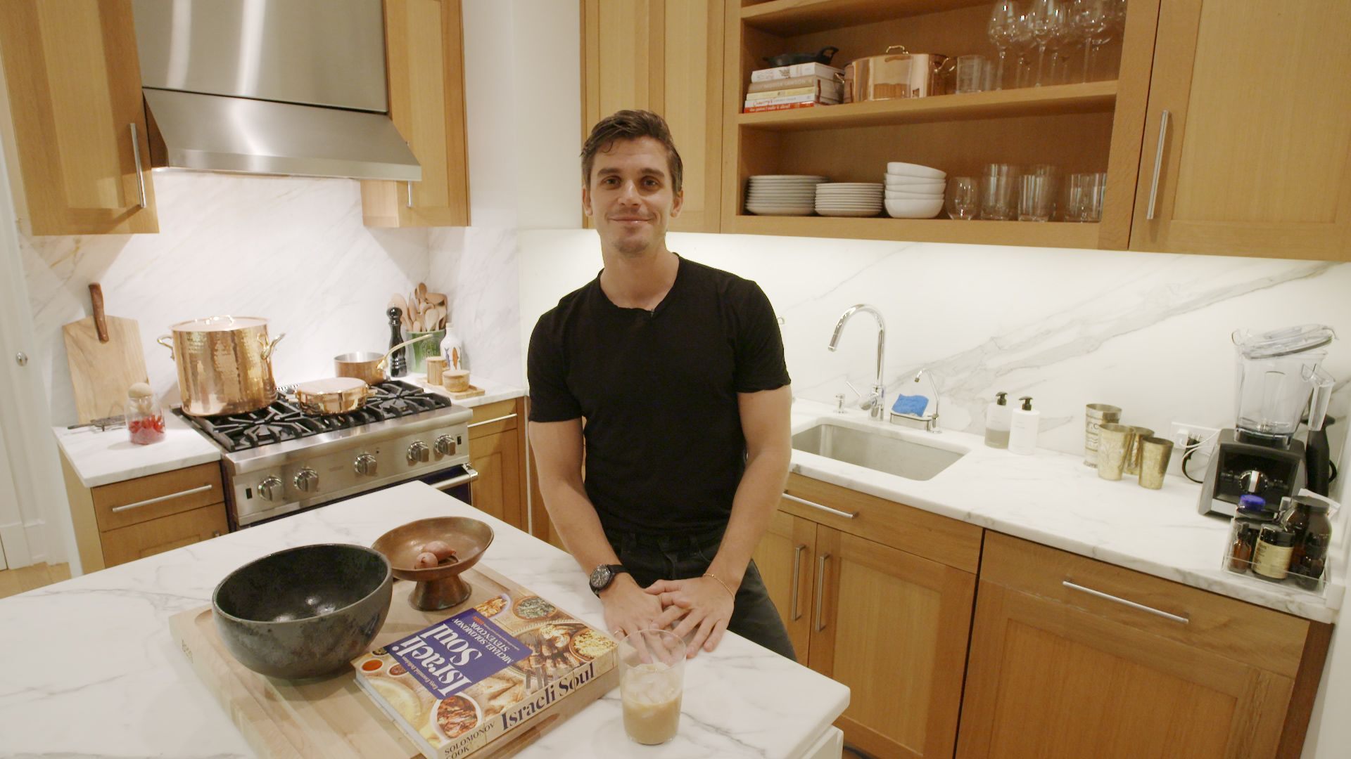 Antoni Porowski's Kitchen Is Filled With An Obscene Amount Of Salt, Bags Of Fish Sticks, And A Light-Up Bottle Of Belvedere