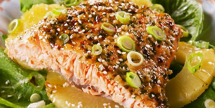 Baked Pineapple Salmon How To Make Baked Pineapple Salmon