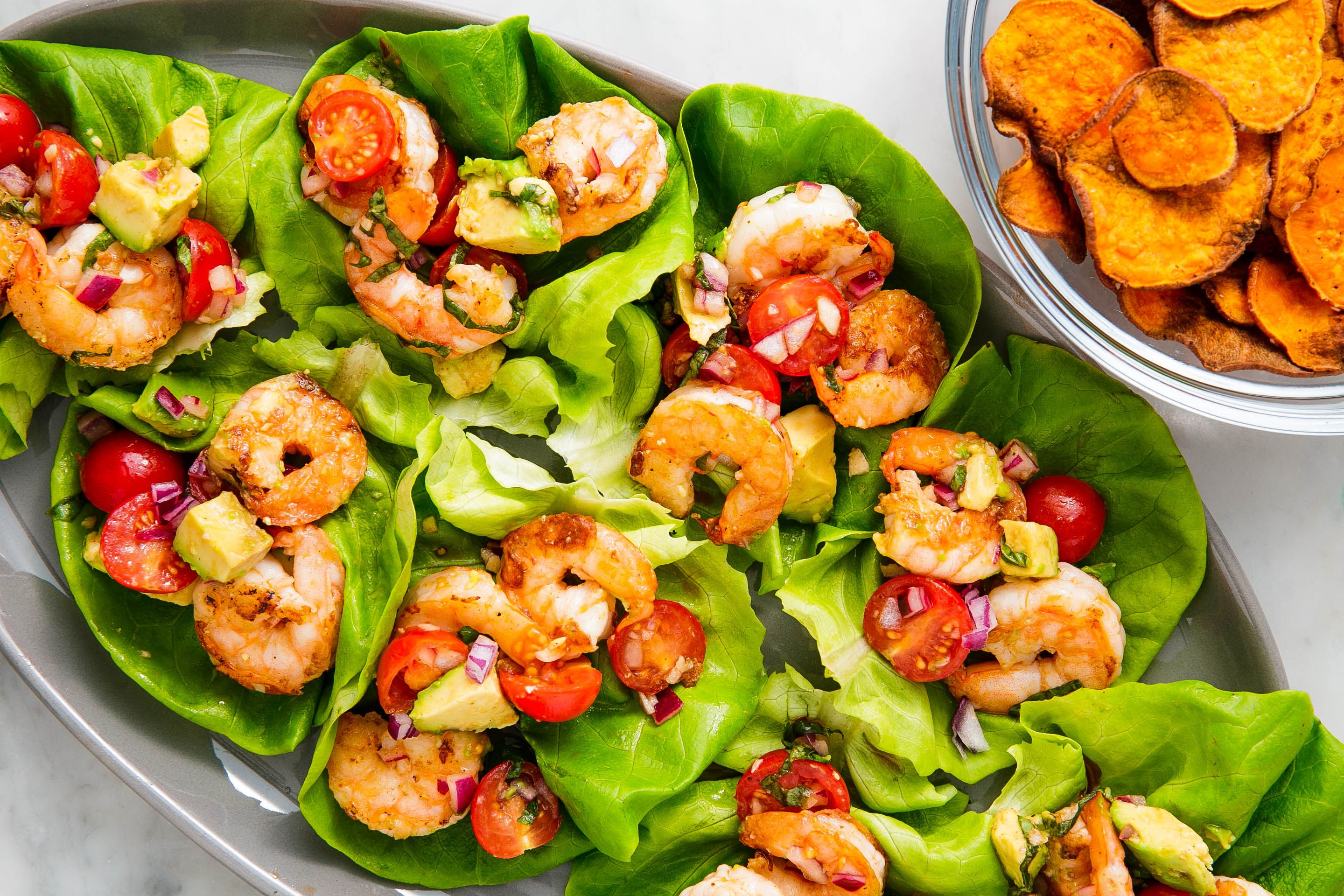 Best Avocado Shrimp Salad Lettuce Wraps Recipe How To Make Avocado Shrimp Salad Lettuce Wraps