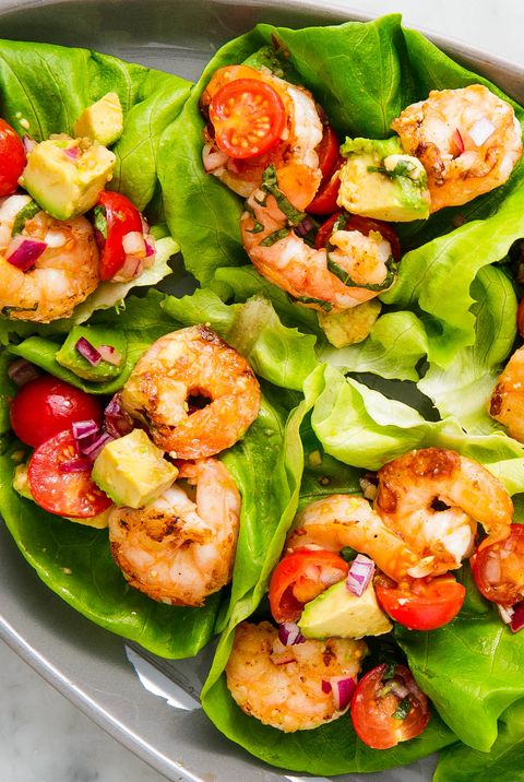 basil shrimp lettuce wraps — delishcom
