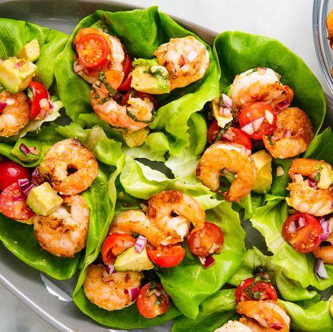 basil shrimp lettuce wraps