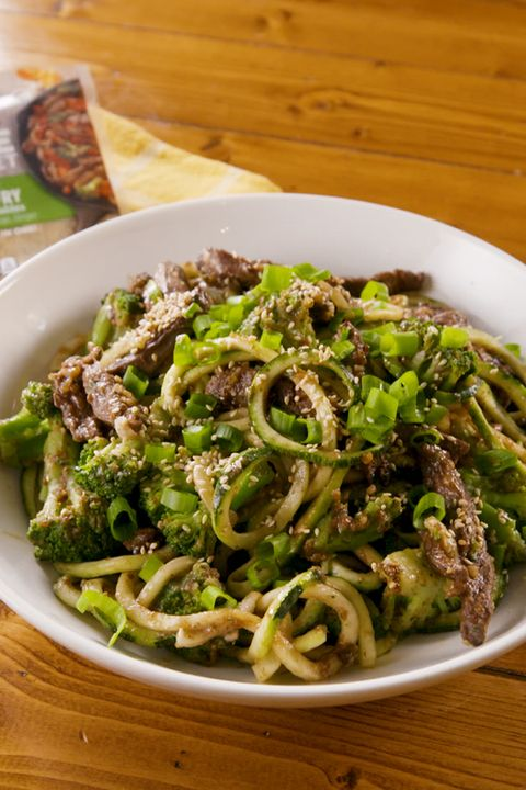 Beef and Broccoli Zoodles - Delish.com