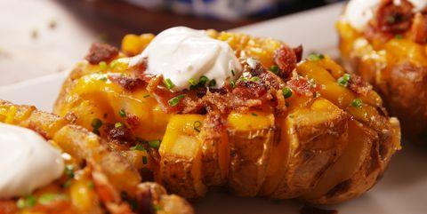 35 Best Baked Potato Recipes Fully Loaded Baked Potatoes Delish Com