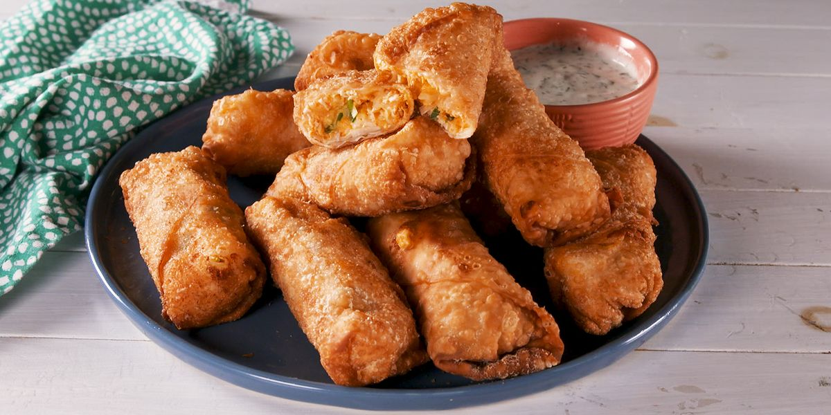 Buffalo Chicken Egg Rolls Are The Perfect Game Day Treat