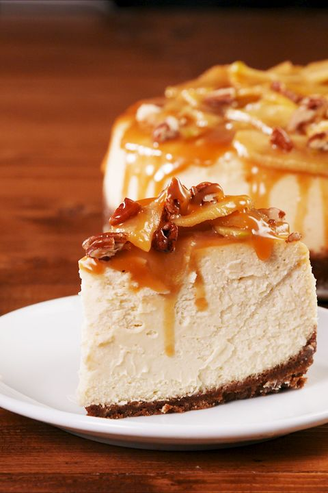 Caramel Apple Cheesecake - Delish.com