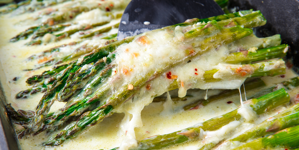 Best Baked Asparagus Recipe How To Make Cheesy Baked Asparagus