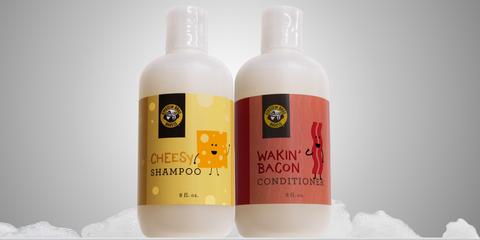 Cheesy Shampoo and Bacon Conditioner