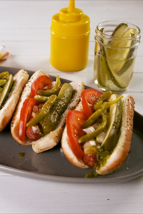 Chicago Style Hot Dogs - Delish.com