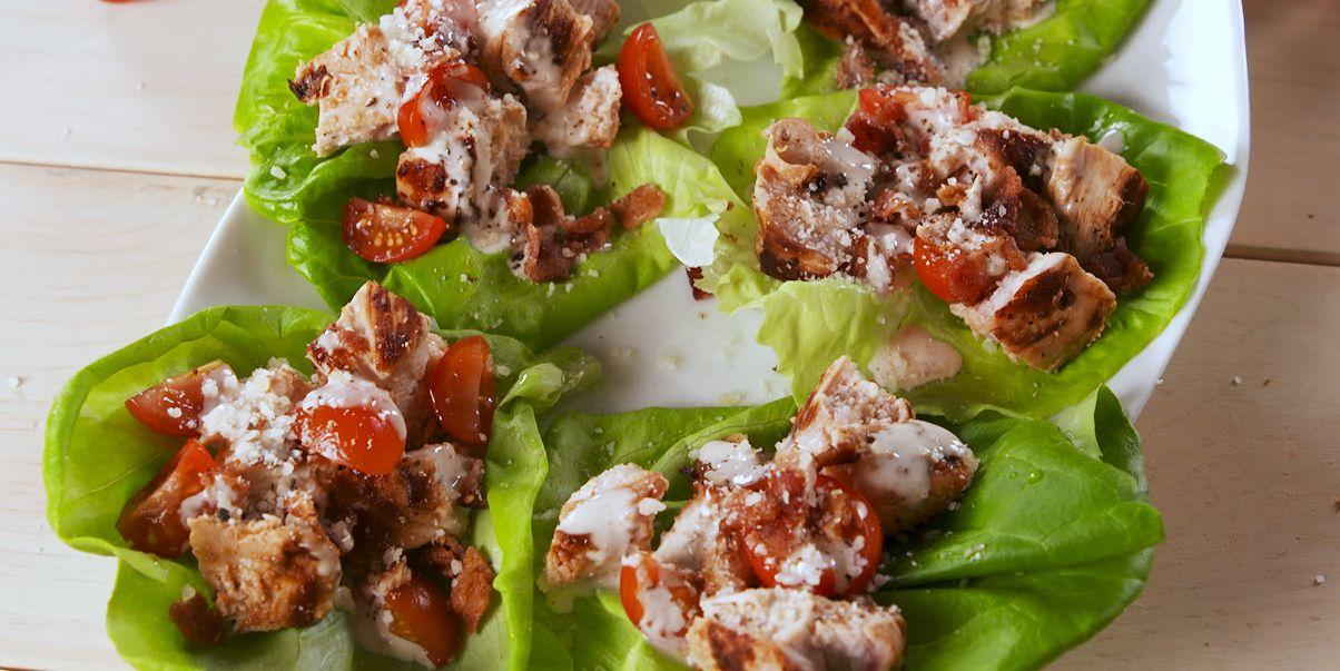 Image result for chicken caesar salad lettuce wraps