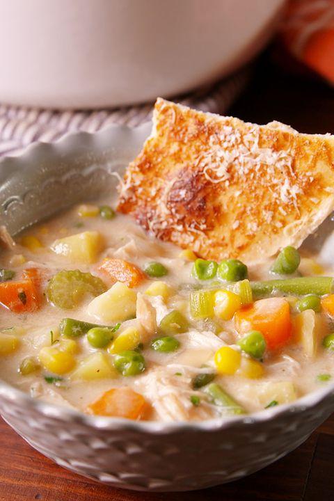 Dish, Food, Cuisine, Ingredient, Corn chowder, Comfort food, Produce, Soup, Pot pie, Recipe,