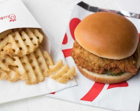 Chick-Fil-A Sandwich and Fries