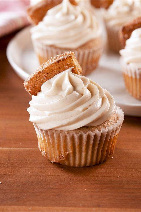Churro Cupcakes - Delish.com